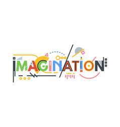 Imagination text banner vector