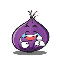 Joy red onion character cartoon vector