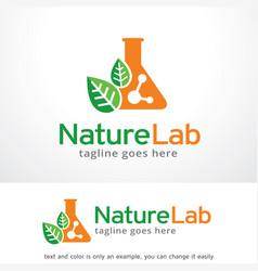 Lab logo template vector