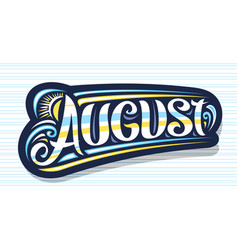 Logo for august vector