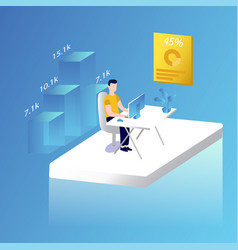 male working in the office vector image