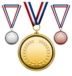 Medals with blank face vector image