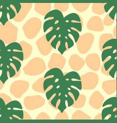 monstera tropical seamless pattern vector image