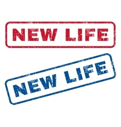 New Life Rubber Stamps vector image