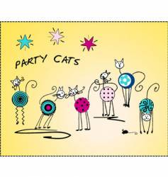 party cats vector image vector image