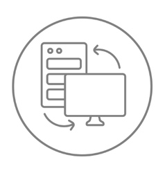 Personal computer set line icon vector image