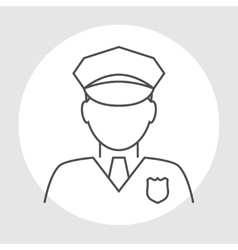 Police officer avatar vector