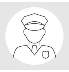 Police officer avatar vector image