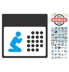 Prayer Calendar Icon With 2017 Year Bonus vector