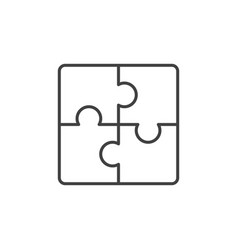 puzzle concept icon in thin line style vector image