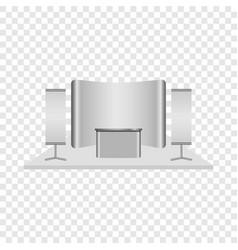 Reception desk mockup realistic style vector
