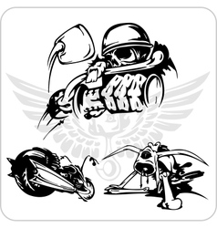 Set - Bike symbol vector