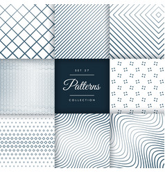 set of line pattern background vector image