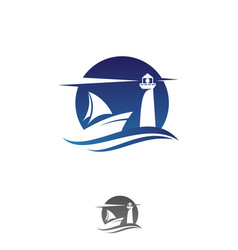 ship emblem vector image
