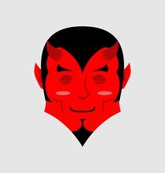 Sleeping demon with big smile Cartoon cute face vector image