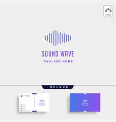 sound audio wave logo music simple icon sign vector image