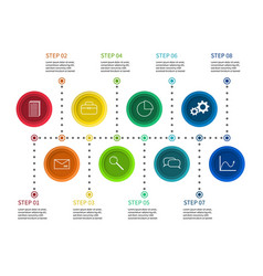step chart info process diagram timeline vector image