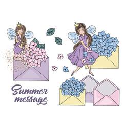 Summer message cartoon wedding clipart vector