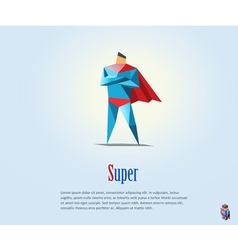 Super hero origami style icon vector