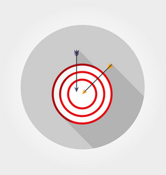 target with an arrow icon flat vector image
