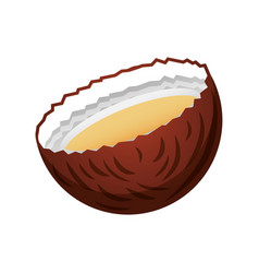 tropical coconut cocktail icon vector image