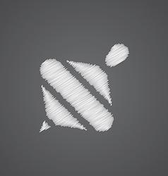 whirligig sketch logo doodle icon vector image