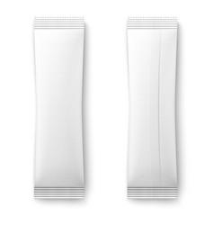White paper sachet bag vector