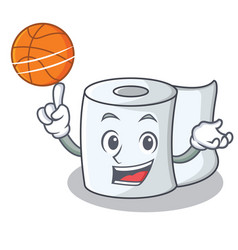 With basketball tissue character cartoon style vector