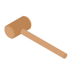 Wooden gavel isometric view isolated on white vector