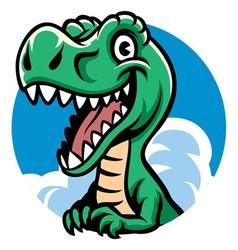 cheerful cute dino vector image vector image