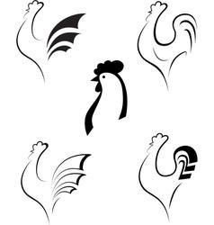 Chicken and cockerel vector