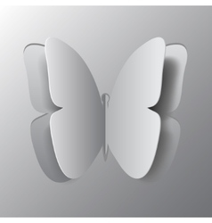 concept of origami butterfly cut the paper vector image