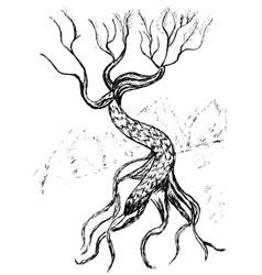 Dead Tree Sketch5 vector image vector image