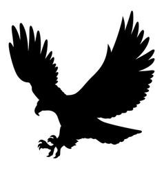 eagle silhouette 004 vector image