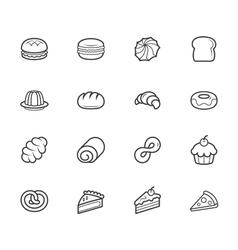 set of bakery black icon set on white background vector image vector image