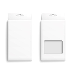 White paper packaging box vector image