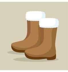 winter season boots icon vector image