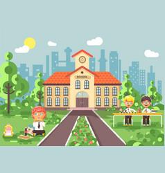 children characters schoolboys vector image vector image