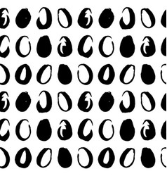 easter eggs handdrawn seamless pattern vector image vector image