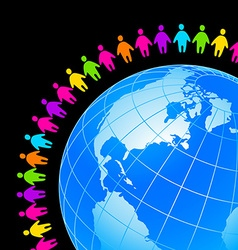 people around Earth vector image vector image