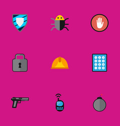 Set of 9 editable procuring flat icons includes vector
