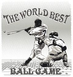 world best ballgame vector image vector image