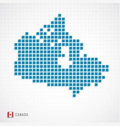 canada map and flag icon vector image