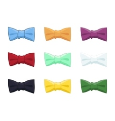 Collection of bow ties isolated colorful vector image