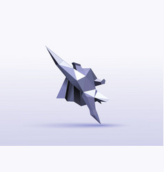 polygonal of flying super hero character vector image