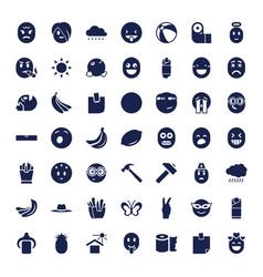 49 yellow icons vector