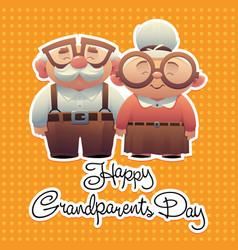 Abstract cartoon grandparents day background vector