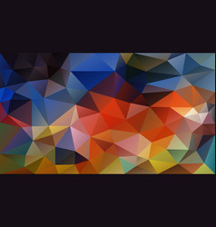 Abstract irregular polygon background colorful vector