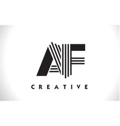 af logo letter with black lines design line letter vector image