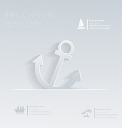 Anchor Theme holidays Template infographic or vector